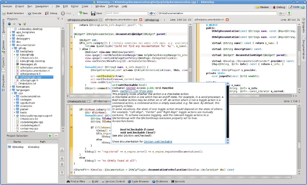 kdevelop screenshot